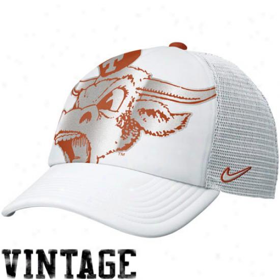 Nike Texzs Longhorns Women's Retro Truvker Hat - White
