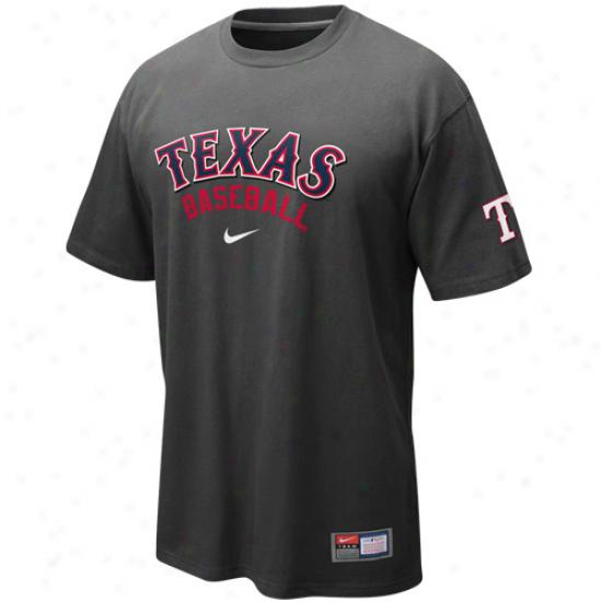 Nike Texas Rangers Away Practice T-shirt - Graphite