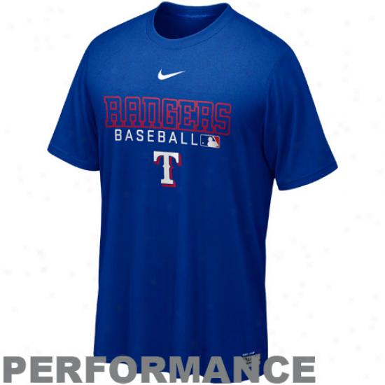 Nike Texas Rangers Dri-fit Team Issue Legend Performance T-shirt - Royal Blue