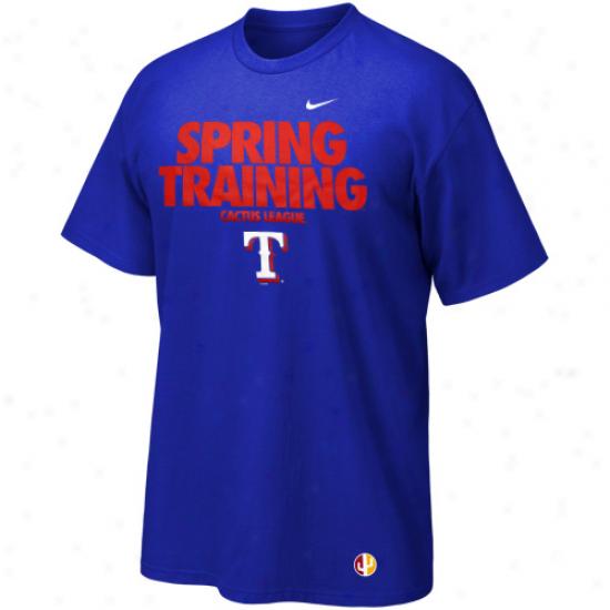 Nike Texas Rangers Team Cactus League Premium T-shirt - Royal Blue