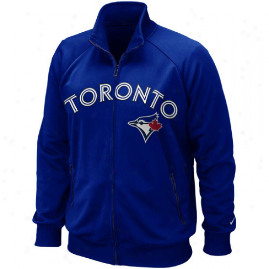 Nike Toronto Blue Jays Mlb Ultimate Full Zip Track Jackef - Royal Blue