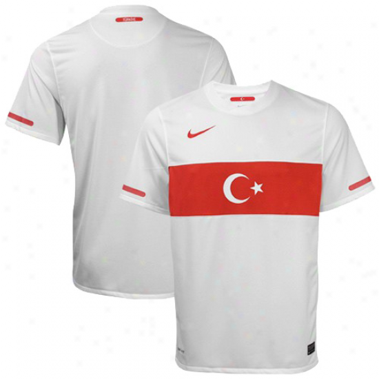 Nike Turkey White World Cup Replica Away Performance Soccer Jersey
