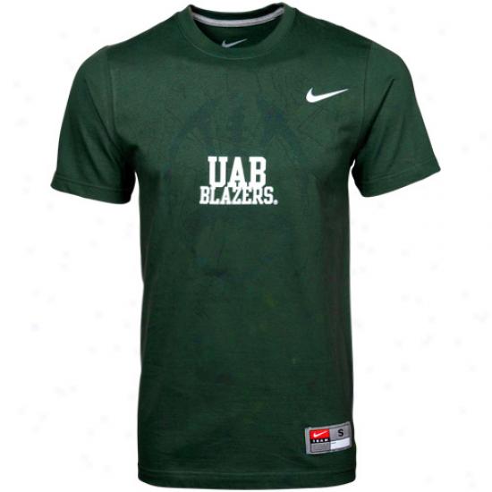 Nike Uab Blazers Foofball Practice T-shirt - Lawn