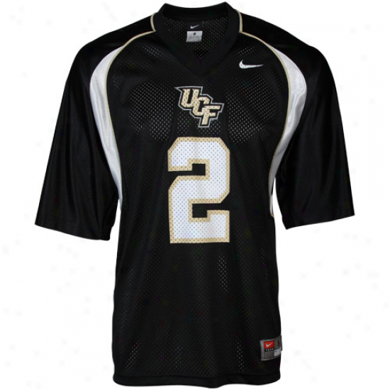 Nike Ucf Knights #2 Replica Football Jersey - Black