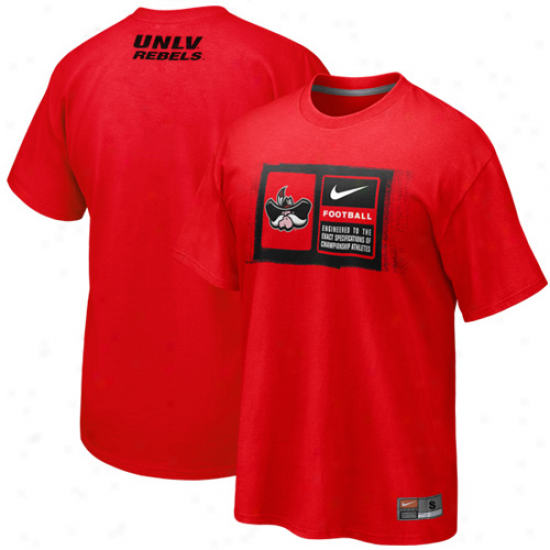 Nike Unlv Rebels Team Issue T-shirt - Red