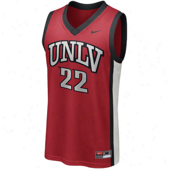 Nike Unlv Runnin' Rebels #22 Replica Basketball Jersey - Scarlet