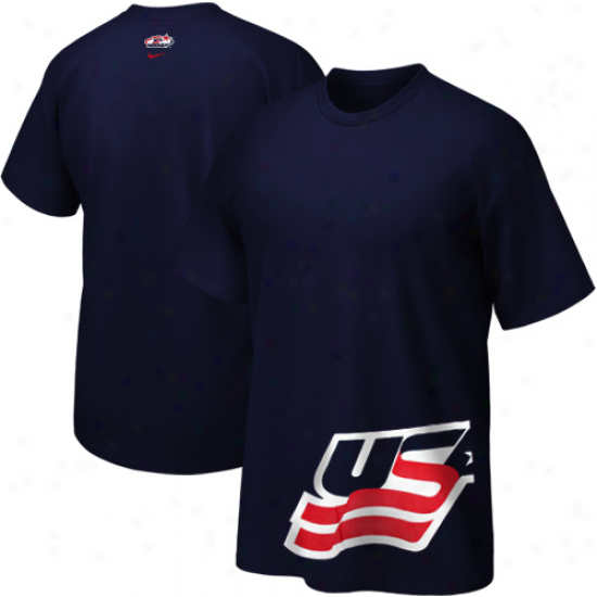 Nike Usa Hockey Youth Team Issue T-shirt - Navy Blue