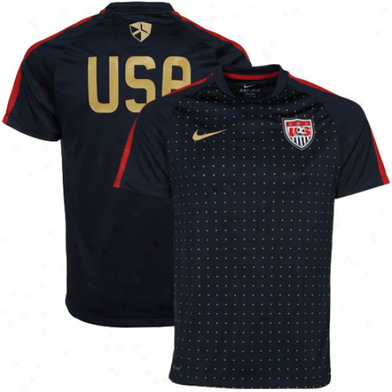 Nike Usa Pre-match Soccer Top