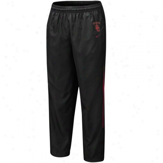 Nik3 Usc Trojans Black 5th Year Windpants