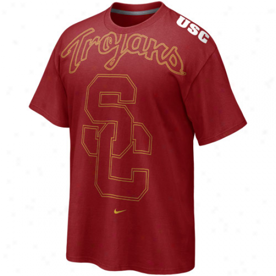 Nike Usc Trojans Cardinal Blow Out T-shirt