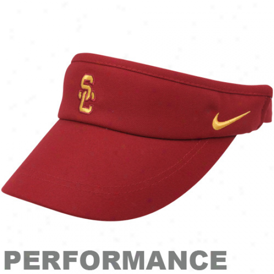 Nike Usc Trojans Cardinal Coaches Performance Adjustable Visor