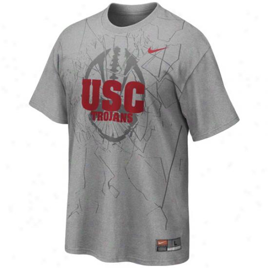 Nike Usc Trojans Football Practice T-shirt - Ash