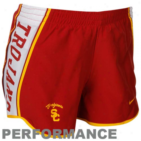 Nike Usc Trojans Ladies Cardinal Pacer Performance Shorts