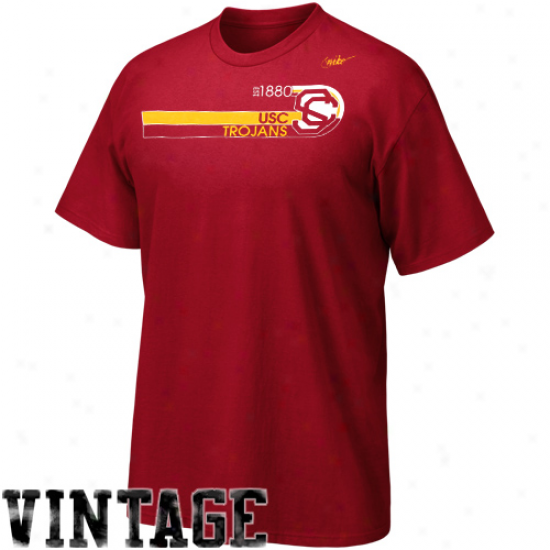 Nike Usc Trojans Vault Establishment T-shirt - Cardinal