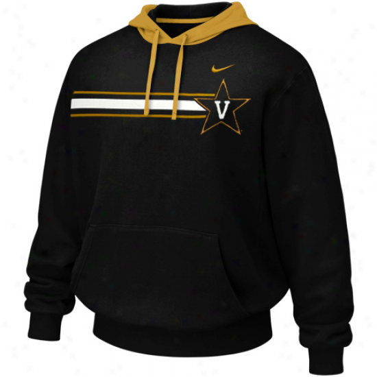 Nike Vanderbilt Commodores Black Bump 'n Run Hoodie Sweatshirt
