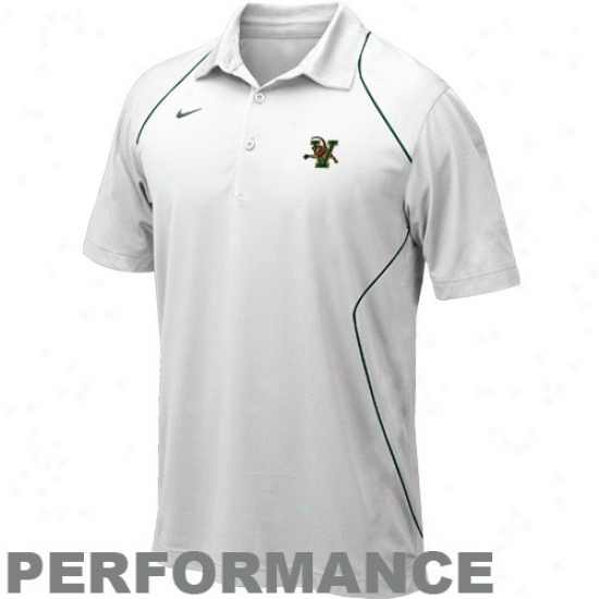 Nike Vermont Catamounys Whitd Snap Calculate Performance Polo