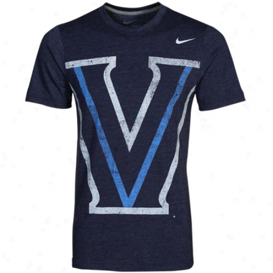 Nike Villanova Wildcats Big Time T -shirt - Navy Blue