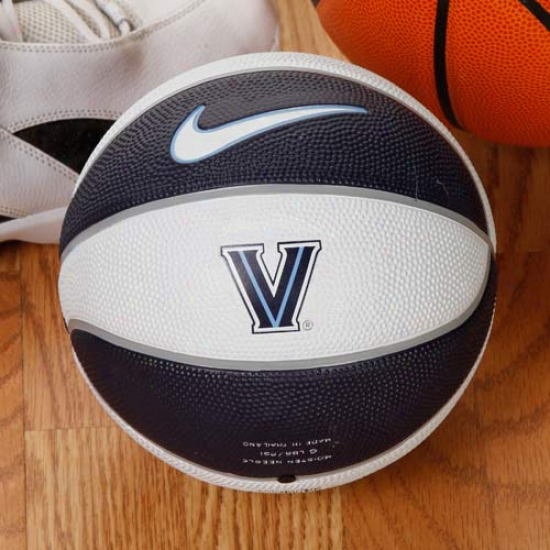 Nike Villanova Wildcats Navy Blue-white 8'' Mini Basketball