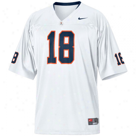 Nike Virginia Cavaliers #18 Replica Football Jersey - White