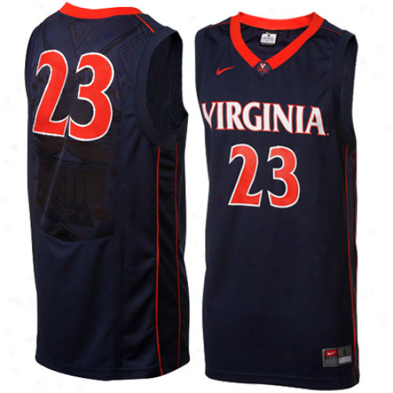 Nike Virginia Cavaliers #23 Replica Basketball Jersey - Navy Blue