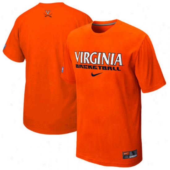 Nike Virginia Cavaliers Basketball Practice T-shirt - Ornge