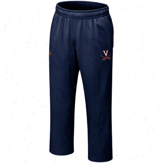 Nike Virginia Cavaliers Navy Pedantic  Lacrosse Strip Sweatpants