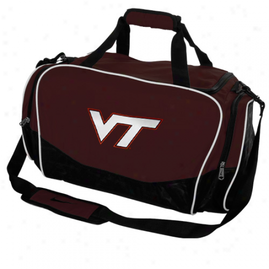 Nike Virginia Tech Hokies Maroon Brasilia Medium Duffel Bag