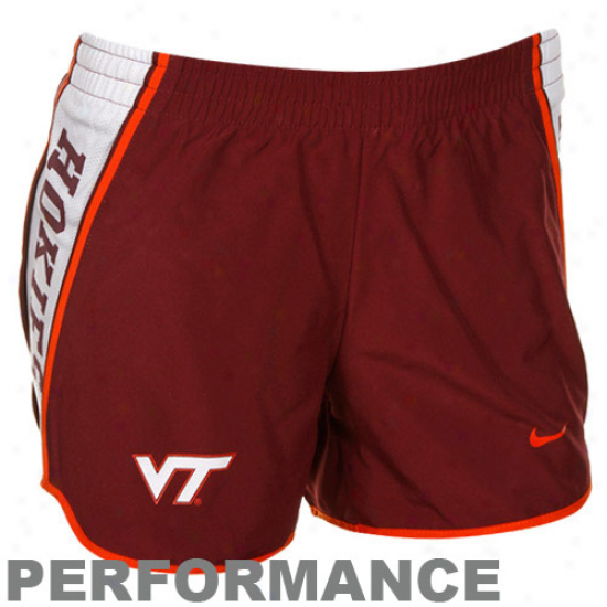 Nike Virginia Tech Hokies Maroon Pacer Performance Shorts