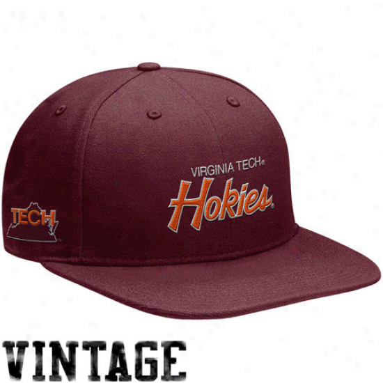 Nike Virginia Tech Hokies Maroon Vault Snapback Adjustablle Cardinal's office