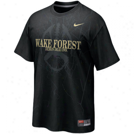 Nike Wake Forset Demon Deacons Football Practice T-shirt - Black