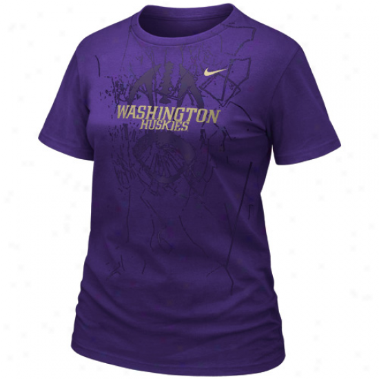 Nike Washington Huskies Ladies Practice T-shirt - Purple