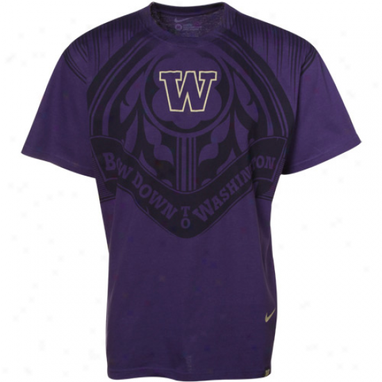 Nike Washignton Huskies Purple Aerlgraphic Premium T-shirt