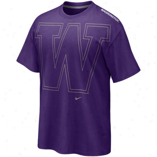 Nike Washington Huskies Purple Blow Out T-shirt