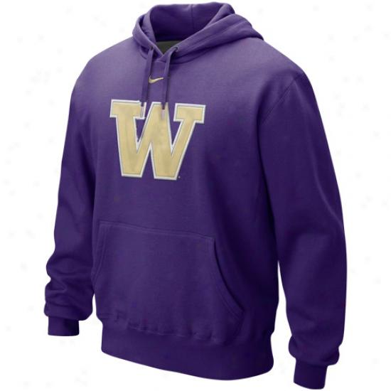 Nike Washington Huskies Purple Classic Logo Pullover Hoocie Sweatshirt