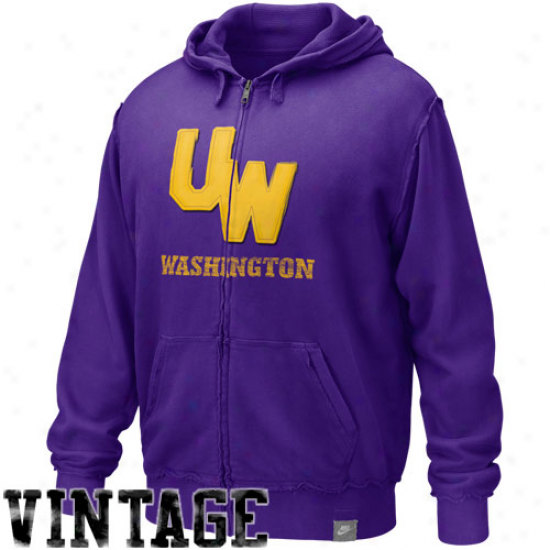 Nike Washington Huskies Purple Vault Accredited Applique Full Zip Hoody Sweatshirt