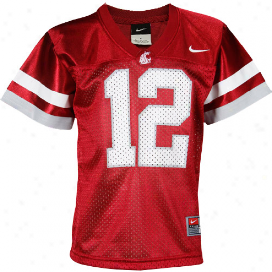 Nike Washington State Cougars #12 Presxhool Replica Football Jersey-crimson
