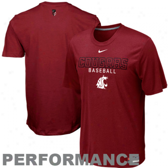 Nike Washington State Cougars Baseball Legend Ii Performance T-shirt - Crimson