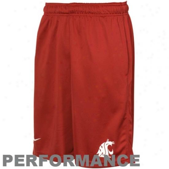 Nike Washington State Cougars Crimson Flyweight Performance Shorts