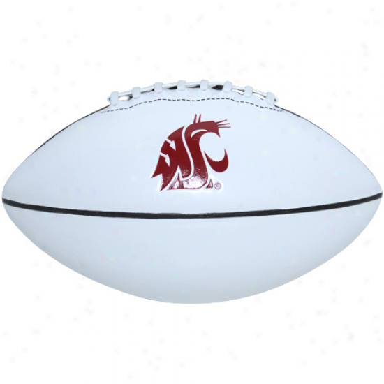 Nike Washington State Cougars Youth White-brown Mini Autograph Football