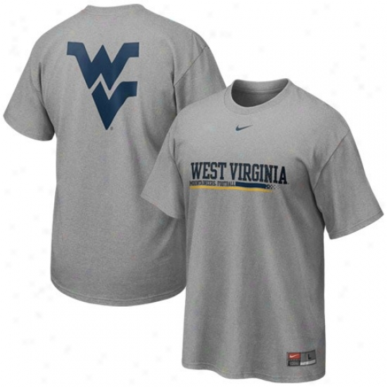 Nike West Virginia Mountaineers Ash Practice T-shirt