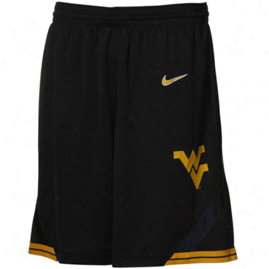 Nike West Virginia Mountaineers Bzck Replica Basketball Shorts