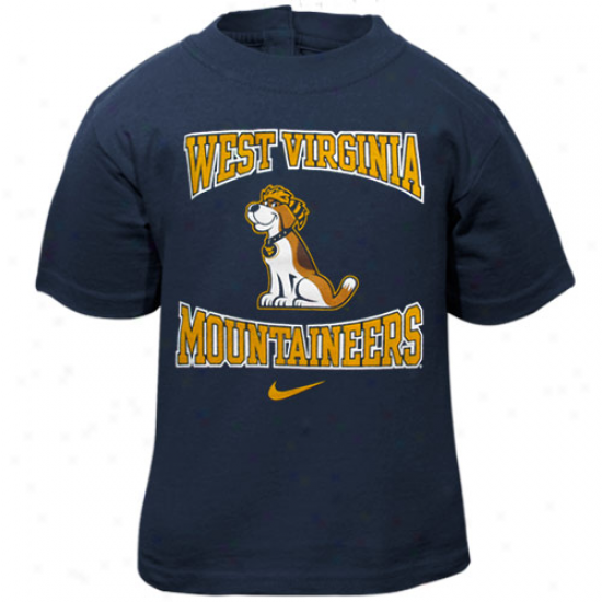 Nike West Virginia Mountaineers Babe Navy Blue Mascot T-shirt