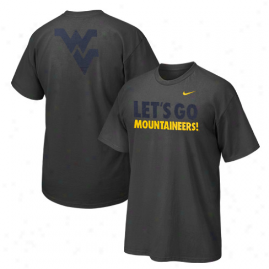 Nike West Virginia Mountaineers Let's Go Mountaineers T-shirt - Charcoal