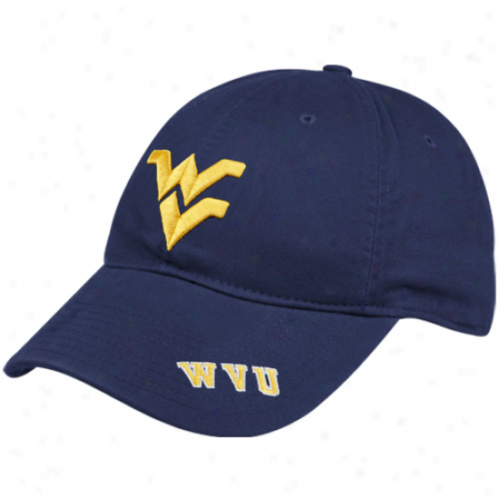 Nike West Virginia Mountaineers Navy Blue Heritage 86 Washed Logo Swoosh Flex Hat