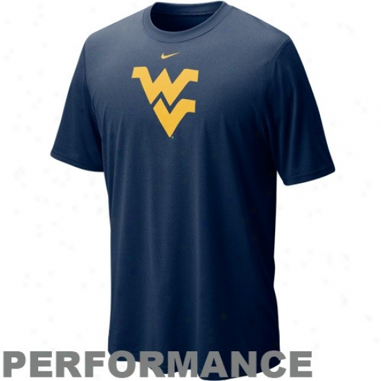 Nike West Virginia Mountaineers Navy Blue Fable Logo Performance T-shirt