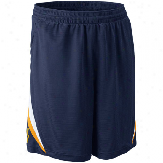 Nike West Virginia Mountaineers Navy Blue Rip Athletic Shorts
