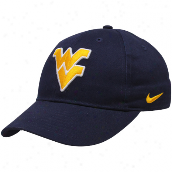 Nike West Virginia Mountaineers Preschool Navy Blue Classic Adjustable Hat
