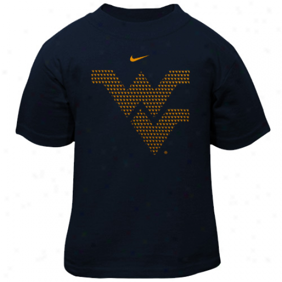 Nike West Virginia Mountaineers Toddler Vivid T-shirt - Navy Blue