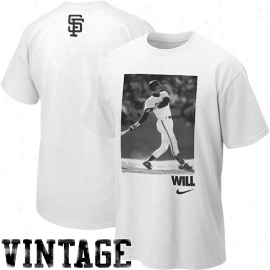 Nike Will Clark San Francisco Giants Will Cooprstown Mimic T-shirt - White