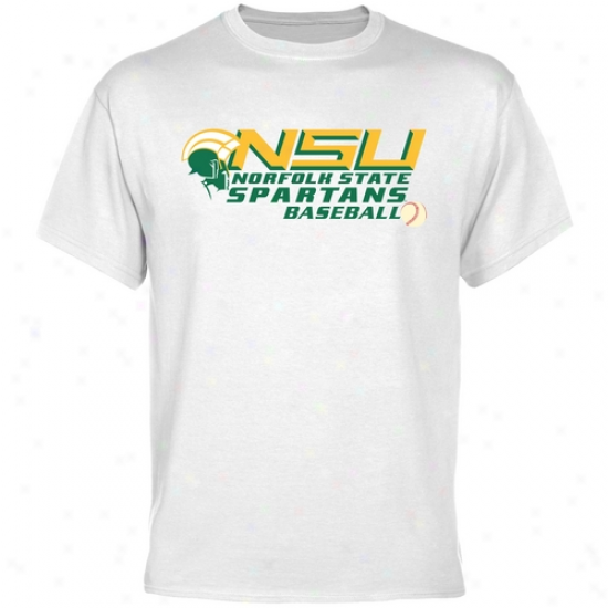 Norfolk Commonwealth Spartans Baseball T-shirt - White